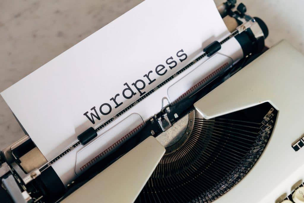 Machine à écrire WordPress
